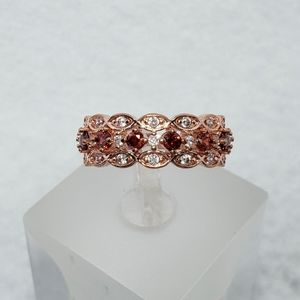 Rose Gold Red Stack Ring